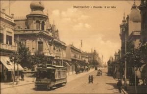 Montevideo Avenida 18 de Julio c1910 Postcard