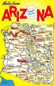 Arizona USA Greetings From Unused