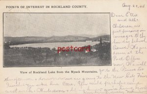 1905 ROCKLAND LAKE FROM NYACK MOUNTAINS NY mailed to Miss Ettie Harms, pm Nanuet