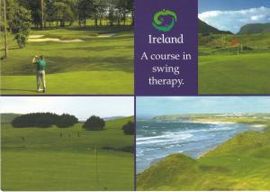 Post Card  Advertising Ireland Golfing 4 views Irish Tourist Board