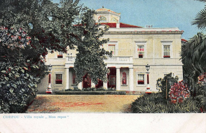 Royal Villa, Corfu, Ionian Islands, Greece, Early Postcard, Unused