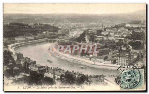 Old Postcard From Jack Lyon Saone Restauant Gay