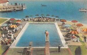 LP68 Old Point Comfort Virginia Albertype Hand Colored Postcard Chamberlin Hotel
