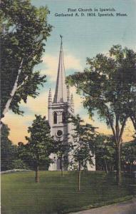 Massachusetts Ipswich First Church In Ipswich Gathered A D 1634