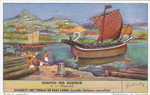 Liebig S1584 Ancient Ships No 4 Phoenicia