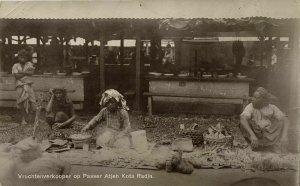 indonesia, SUMATRA, KOTA RADJA, Banda Aceh Atjeh, Fruit Sellers (1912) RPPC
