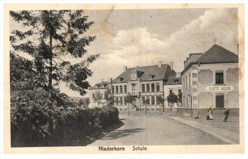 11026  Luxembourg Niederkorn 1919 Schule Cafe Hess