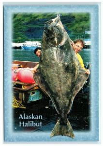 Postcard 350 lb. Alaskan Halibut, Alaska AK ACE1800