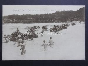 Morocco Casbah Tadla (Kasba) Soldiers on Horse back crossing river - early 1900