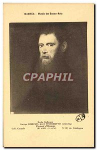 Postcard Old Nantes Musee Des Beaux Arts Jacopo Robusti Tintoretto Portrait o...