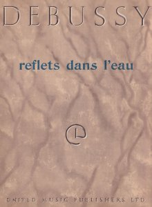 Claude Debussy Reflets Dans L'Eau From Book 1 Vintage Classical Sheet Music