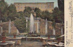 Italy Tivoli Villa d'Este La scalone