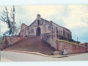 Pre-1980 CHURCH SCENE San German - Near Mayaguez Puerto Rico PR AD0528
