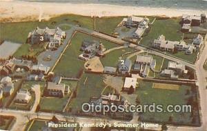 Hyannis Port, Mass, USA Postcard President Kennedy's Summer Home