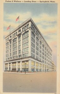 SPRINGFIELD , Massachusetts , 1930-40s; Forbes & Wallace -  Leading Store