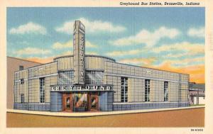 Evansville Indiana Greyhound Bus Station Street View Antique Postcard K42632