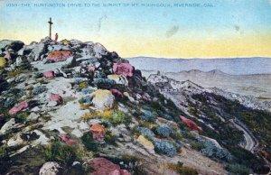 Huntington Drive Summit Mt Roubidoux Riverside CA Vintage Divided Back Post Card