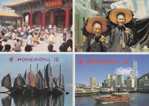 Wong Tai Sin Temple Boats Hong Kong 4x Postcard s
