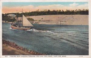Massachusetts Cape Cod Fishing Boats Passing Through Cape Cod Canal Curteich