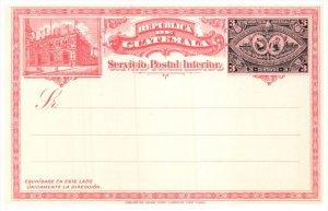 21789  Guatamala   Postal Stationary Card 3 centavos Unused
