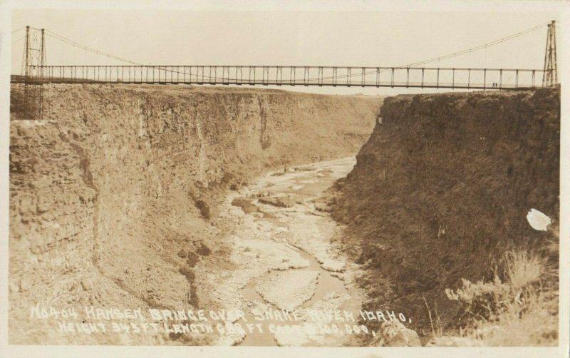 RP: SNAKE RIVER , Idaho , 1910-20s ; Hansen Bridge