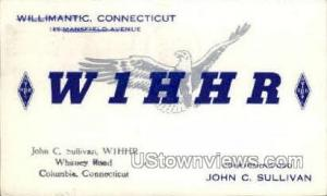 W1HHR, Radio