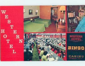 Unused Pre-1980 SLOT MACHINES & BINGO AT WESTERN HOTEL CASINO Las Vegas NV B0614