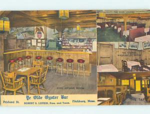 Unused Linen YE OLDE OYSTER BAR RESTAURANT Fitchburg Massachusetts MA M9422