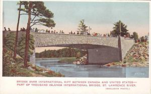 Thousand Islands Bridge Over International Rift, Canada and United States Bor...