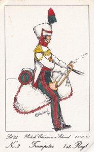 Chasseurs A Cheval Polish Trumpter 1st Regiment Soldier Napoleonic War Postcard
