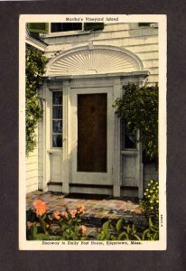 MA Doorway Emily Post House Martha's Vineyard Island Edgartown Massachusetts