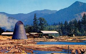 USA - Logging, Northwest Log Pond and Saw Mill