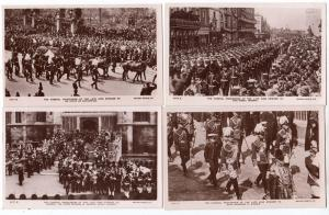 4 - RPPC, Funeral Procession of King Edward VII