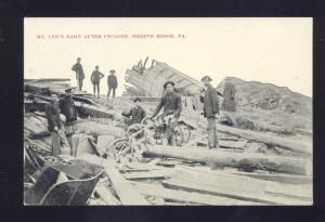 SHREVE RIDGE PENNSYLVANIA LEE FARM AFTER CYCLONE TORNADO DISASTER PA POSTCARD