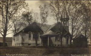 Poestenkill NY Church of Christ c1910 Real Photo Postcard