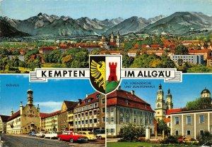 Kempten im Allgau Rathaus St Lorenzkirche Zumsteinhaus Church Cars Postcard