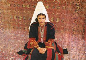 BETHLEHEM, Woman in embroidered local dress, Palestine , 50-70s