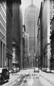 RPPC Board of Trade Bldg. CHICAGO, IL c1940s Vintage Photo Postcard