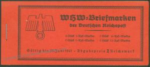 Germany 1940 MH47 Welfare All Original Stamp Booklet Markenheftchen 63550