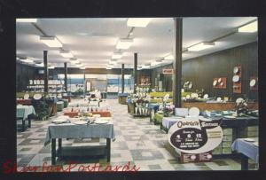 LINCOLN ILLINOIS ROUTE 66 STETSON FACTORY OUTLET STORE INTERIOR OLD POSTCARD