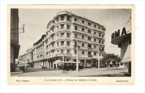 RP  Casablanca, Morocco, Avenue du General d'Amade, 30-40s