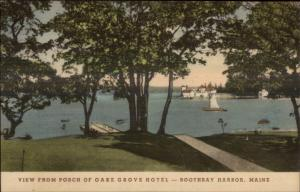 Boothbay Harbor ME From Oake Grove Hotel c1920s-30s Postcard
