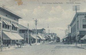 Tucson , Arizona , 1912 ; Second avenue Looking South