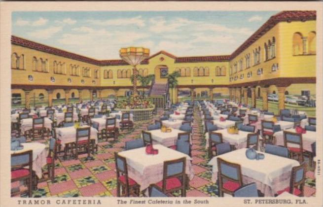 Florida St Petersburg Traymor Cafeteria Curteich