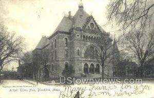 Town Hall Brookline MA 1905