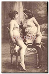 Postcard Old Nude Erotic Women
