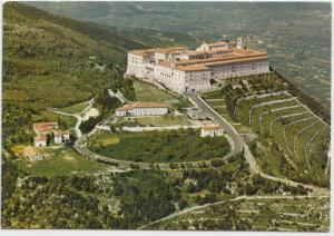 MONTECASSINO, Abbazia vista dall'aereo, The Abbey seen from the air, Postcard