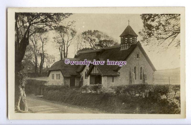 h1846 - Isle of Wight - St.Agnes' the Thatched Church in Freshwater - Postcard