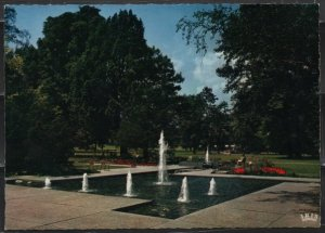 Post Card Stuttgart Germany Quellgarten Water fountains