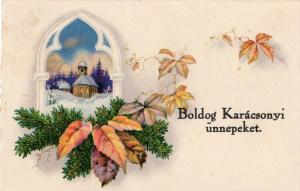 Happy New Year Hungarian Postcard RARE 01.47
